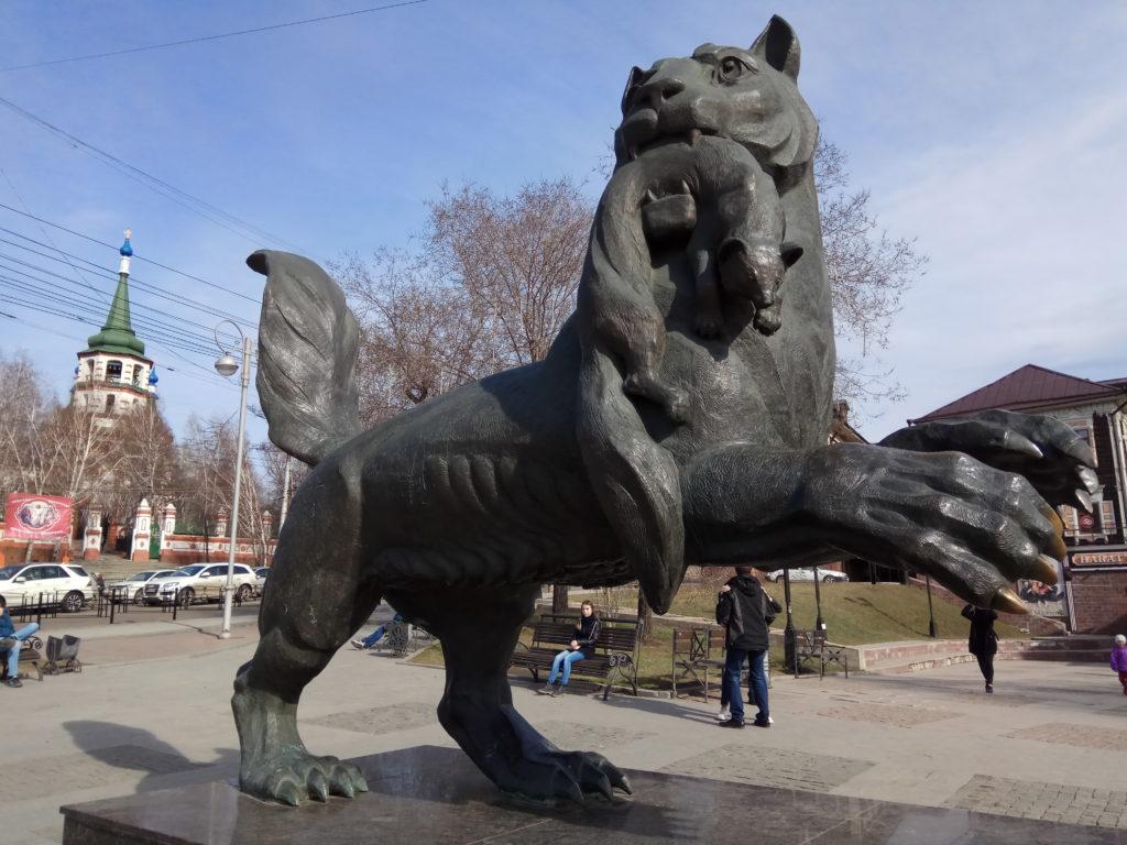 Бабр - символ Иркутска (это местное название тигра)