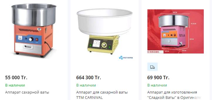 купить аппарат для сладкой ваты в казахстане